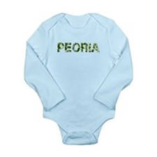 Peoria, Vintage Camo, Long Sleeve Infant Bodysuit