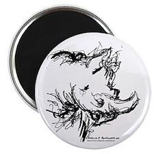 Black Rhinoceros Magnet