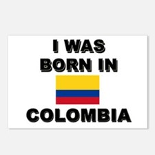 I Was Born In Colombia Postcards (Package of 8)