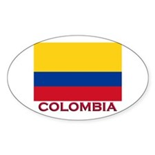 Colombia Flag Stuff Oval Decal