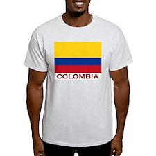 Colombia Flag Stuff Ash Grey T-Shirt