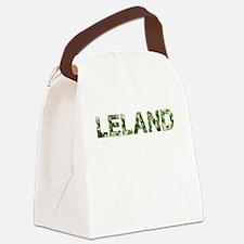 Leland, Vintage Camo, Canvas Lunch Bag