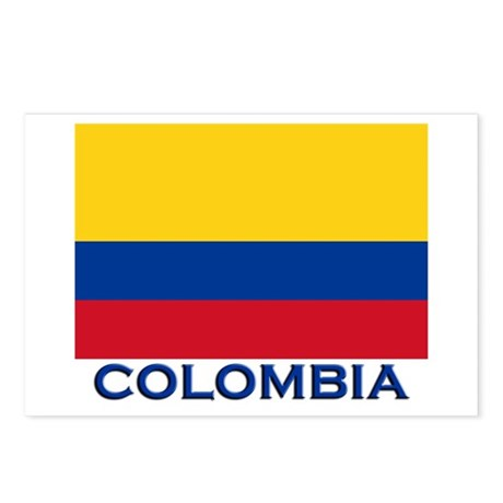 Colombia Flag Gear Postcards (Package of 8)