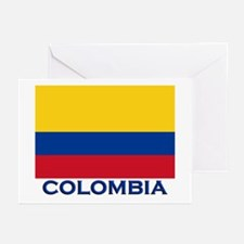 Colombia Flag Gear Greeting Cards (Pk of 10)