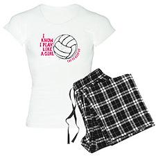 Play Volleyball Like a Girl Pajamas