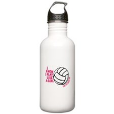 Play Volleyball Like a Girl Sports Water Bottle