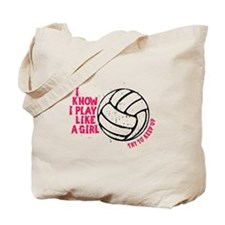 Play Volleyball Like a Girl Tote Bag