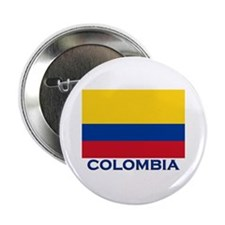 Colombia Flag Gear Button