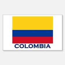 Colombia Flag Gear Rectangle Decal