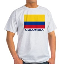 Colombia Flag Gear Ash Grey T-Shirt