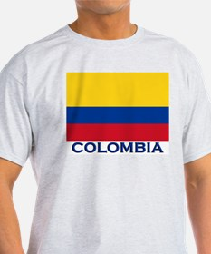 Colombia Flag Gear Ash Grey T-Shirt