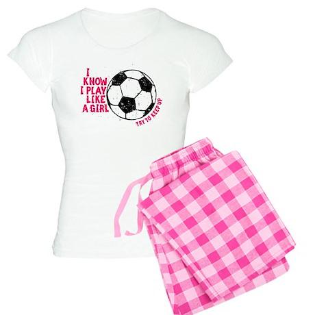 I Know I Play Like A Girl Women's Light Pajamas