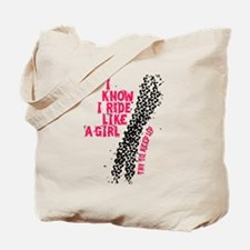 I Ride Like A Girl Tote Bag