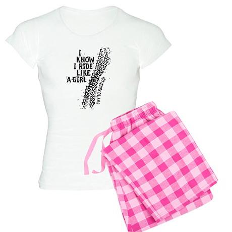 I Know I Ride Like A Girl Women's Light Pajamas