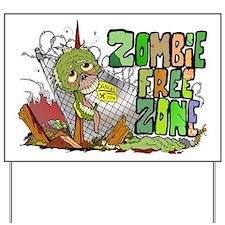 Zombie Free Zone Yard Sign
