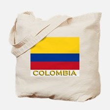 Colombia Flag Merchandise Tote Bag