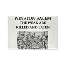 winston salem Rectangle Magnet