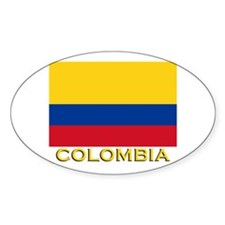 Colombia Flag Merchandise Oval Decal