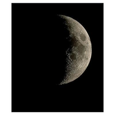 Waxing crescent Moon Poster