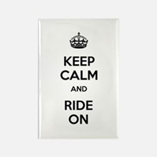 Keep Calm and Ride On Rectangle Magnet (10 pack)