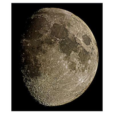 Waxing gibbous Moon Poster