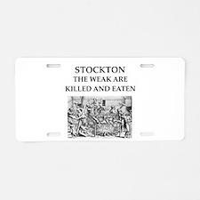 stockton,california Aluminum License Plate