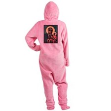 Blackmadonna.png Footed Pajamas