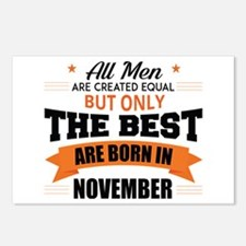The Best Are Born In November Postcards (Package o