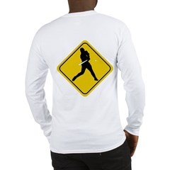 Baseball Crossing Sign Long Sleeve T-Shirt