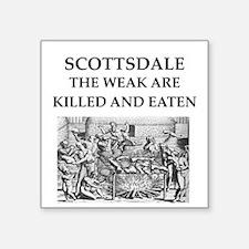 "scottsdale Square Sticker 3"" x 3"""