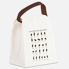 ASL Alphabet Canvas Lunch Bag