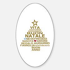 Buon Natale Sticker (Oval)