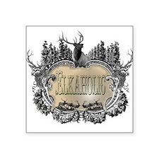 elkaholic elk logo Oval Sticker