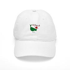Christmas Vegan Chick Baseball Cap