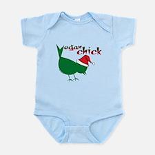 Christmas Vegan Chick Infant Bodysuit