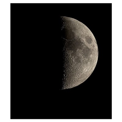 Waxing half Moon Framed Print