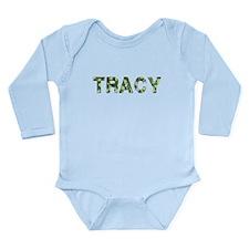 Tracy, Vintage Camo, Long Sleeve Infant Bodysuit