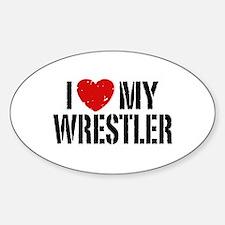 I Love My Wrestler Decal