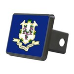 Flag of Connecticut Rectangular Hitch Cover