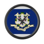 Flag of Connecticut Large Wall Clock