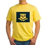 Flag of Connecticut Yellow T-Shirt