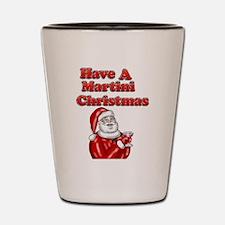 Have A Martini Christmas Shot Glass