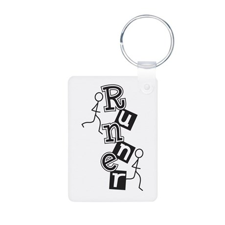 Runner Aluminum Photo Keychain
