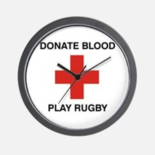 Donate Blood - Play Rugby Wall Clock