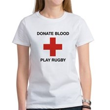 Donate Blood - Play Rugby Tee