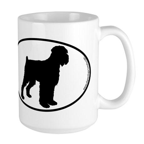 blackrussianterrier-oval Mugs