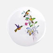 "Hummingbirds 3.5"" Button"