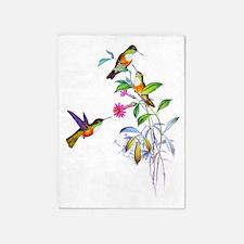 Hummingbirds 5'x7'Area Rug