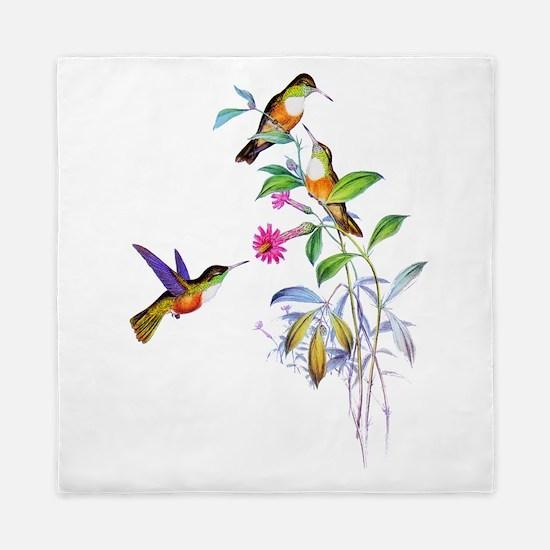 Hummingbirds Queen Duvet