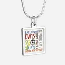 DWTS Silver Square Necklace